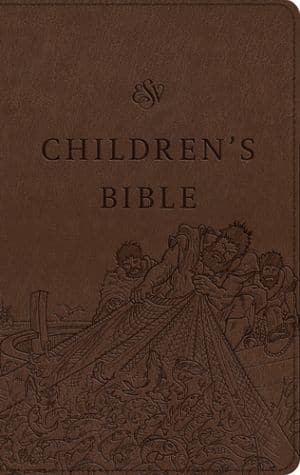 ESV Children's Bible trutone brown book cover