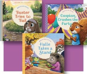 Good News for Little Hearts Bundle three book covers