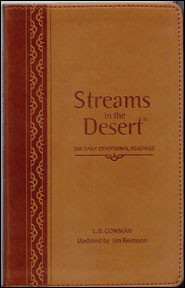 Streams in the Desert leather edition book cover