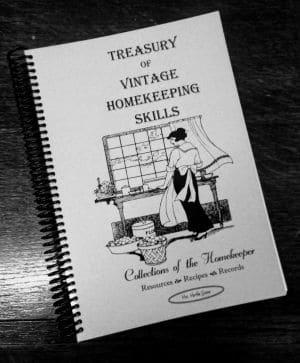 Treasury of Vintage Homekeeping Skills book cover