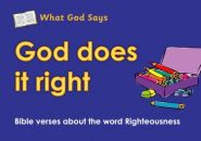 What God Says: God Does it Right Grace and Truth Books